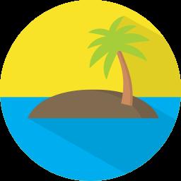 Vakantiereizen en trips icoon